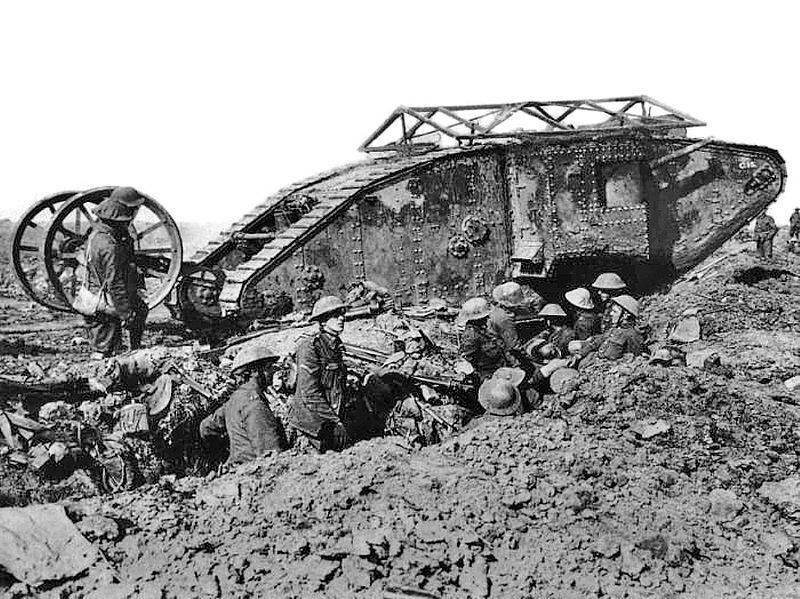 Первая атака «сухопутных броненосцев»