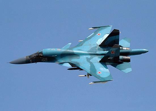 Экипажи Су-34 поразили объекты условного противника на полигоне в Воронежской области