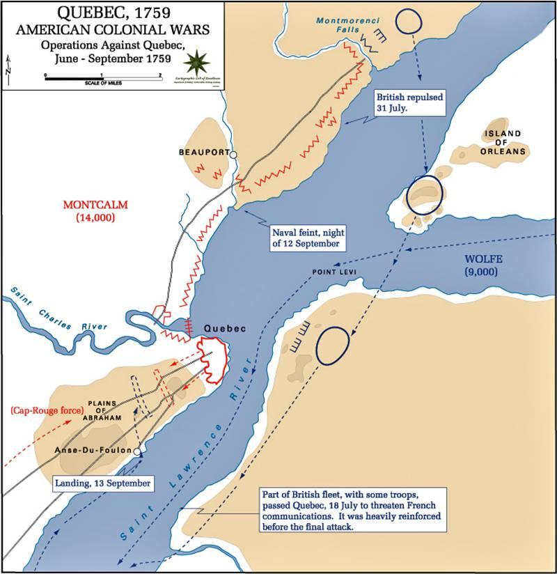 Заокеанский театр Семилетней войны. Падение Квебека