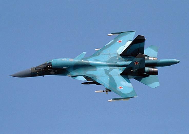 Лётчики ВВО впервый раз выполнили ночные полёты набомбардировщиках Су-34