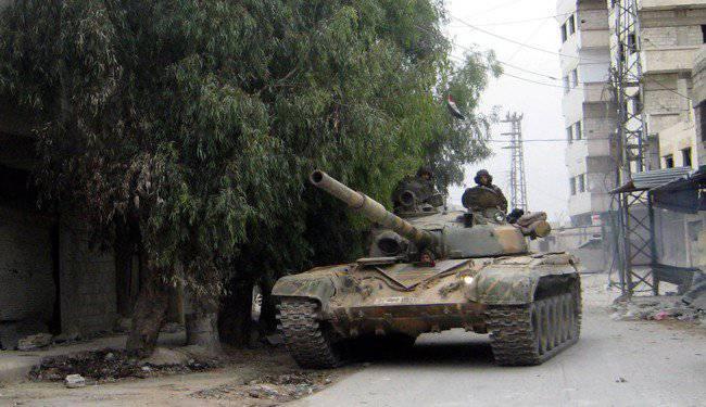 Сирийская армия развивает наступление на разных участках фронта