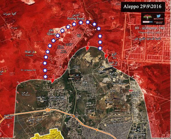 Сирийская армия освободила от боевиков лагерь Хандарат на северо-западе Алеппо