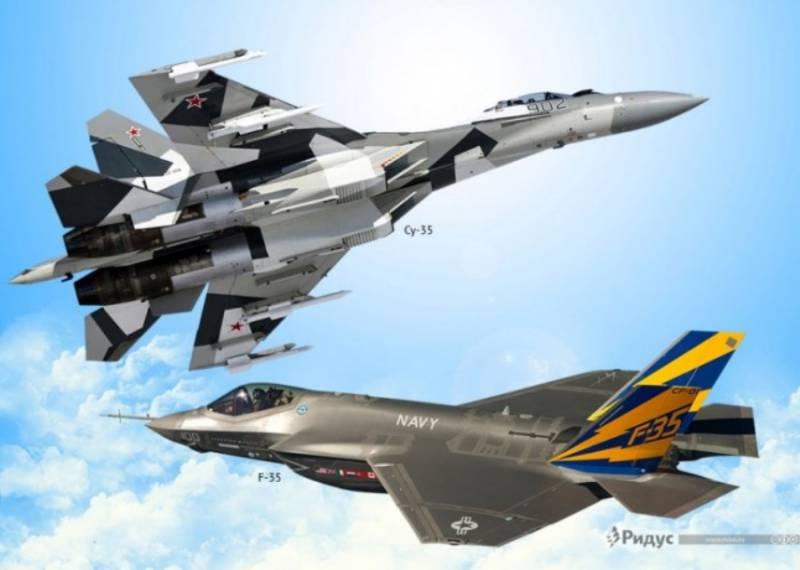 Британский эксперт: истребителю F-35 никогда не победить российский Су-35