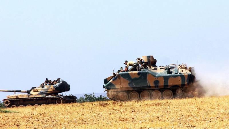 Турецкие танки в провинции Алеппо обстреляли позиции ИГ