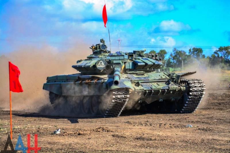 Под Шахтёрском прошли танковые соревнования Республик Донбасса