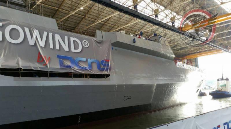 Во Франции спущен на воду первый корвет для ВМС Египта