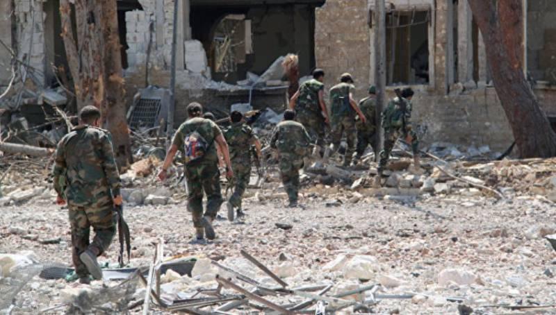 Сирийские войска зачистили освобождённый от террористов район на востоке Алеппо