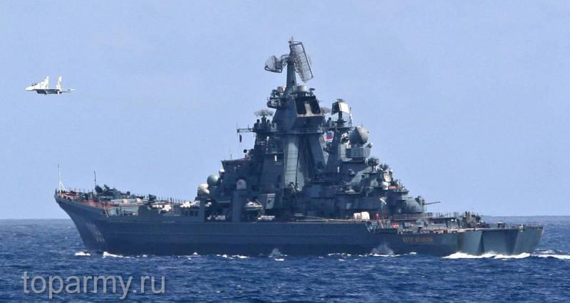 «Пётр Великий» и АПЛ проекта 949А выполнили ракетные стрельбы
