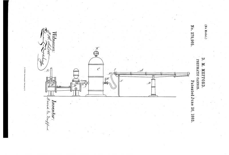 Пневматическая / динамитная пушка Д.М. Мэффорда (США)