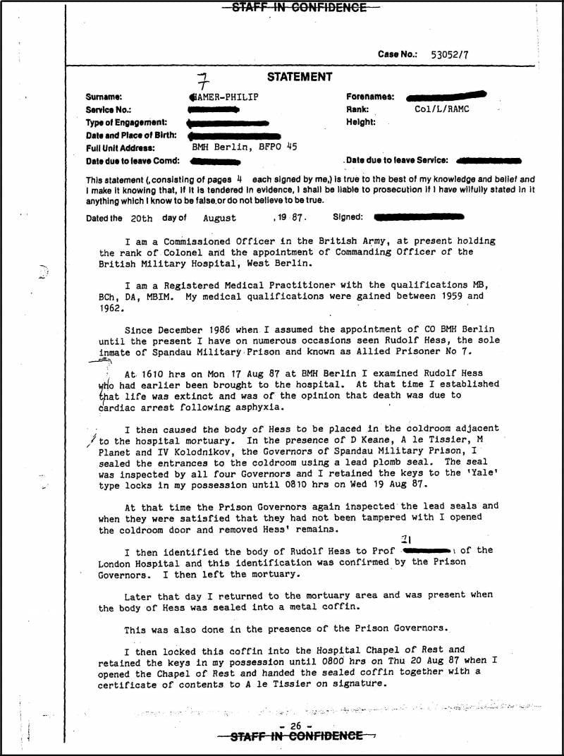 Зачем фальсифицировали расследование в Шпандау? Часть 2