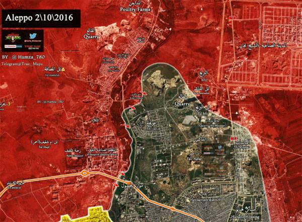 Армия Сирии перерезала один из северных маршрутов снабжения боевиков в  Алеппо