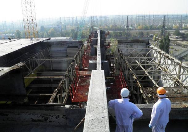 Завершена самая важная часть строительства нового укрытия наЧАЭС