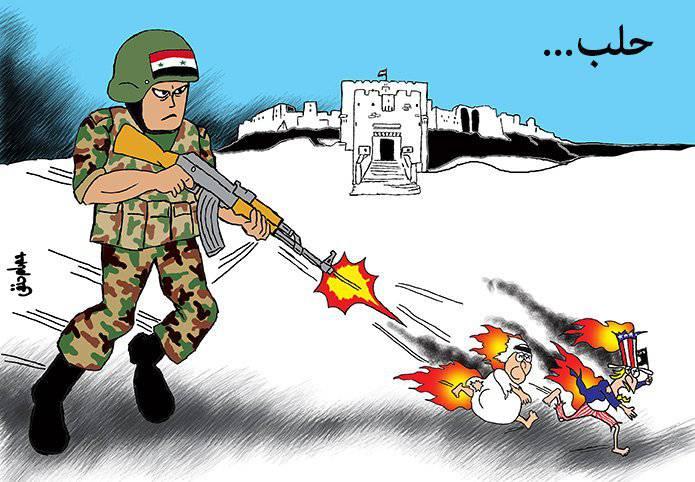 Наступление сирийской армии в восточном Алеппо и Дейр-эз-Зоре
