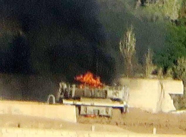 СМИ: В Сирии решетчатый экран спас жизнь экипажу Т-72