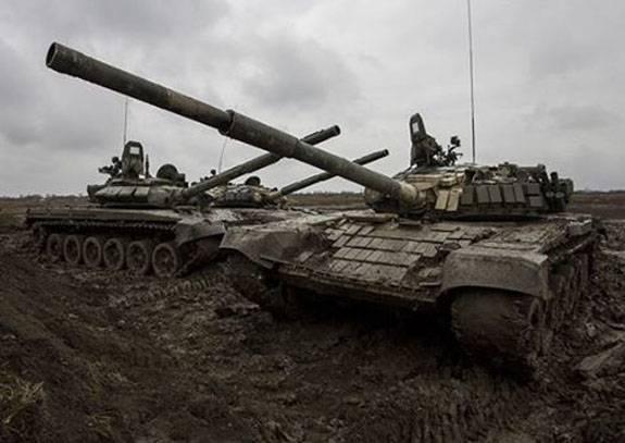 Танковая карусель Т-72Б3 в Чеченской Республике