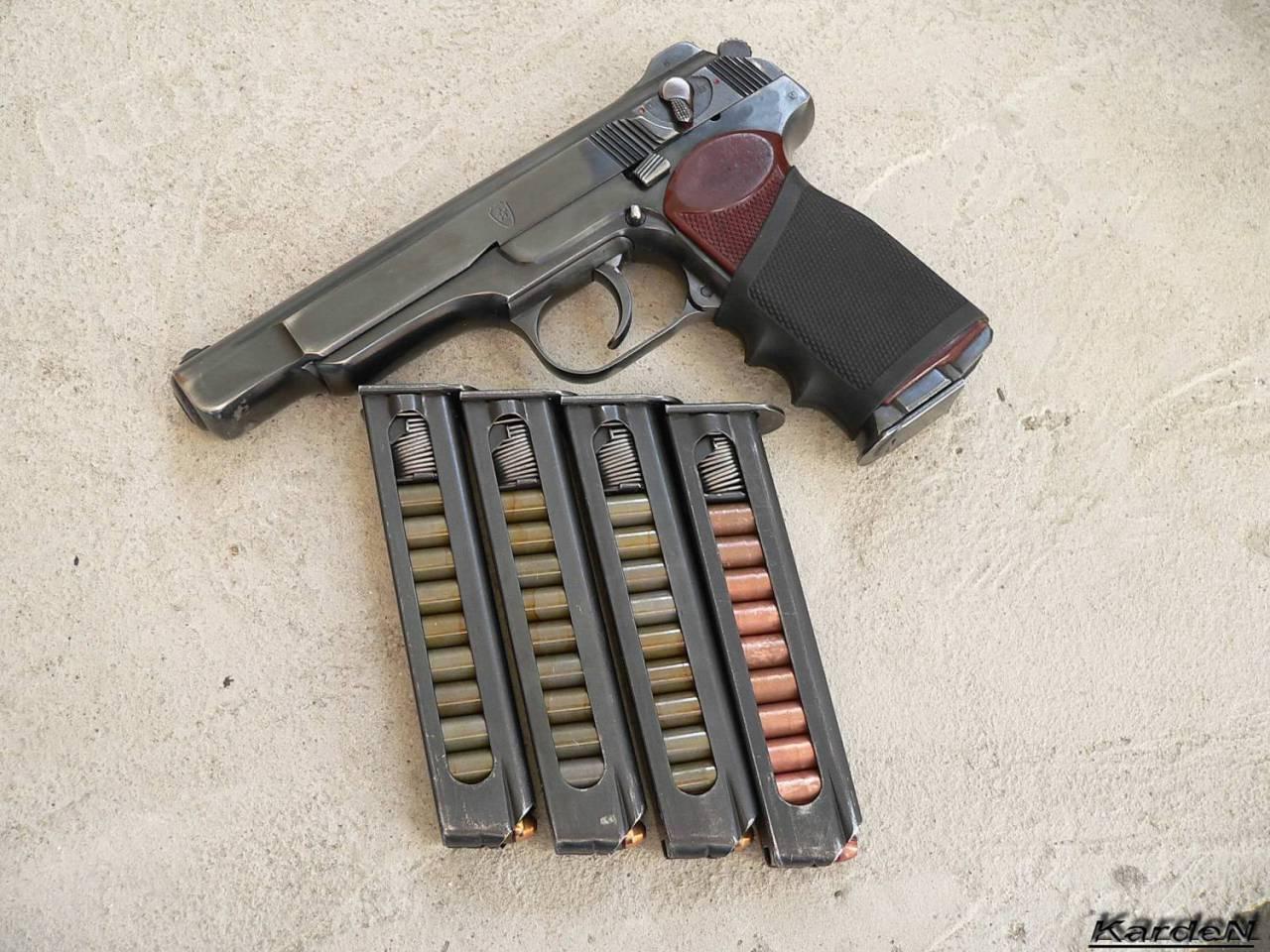 схема работы автоматического пистолета