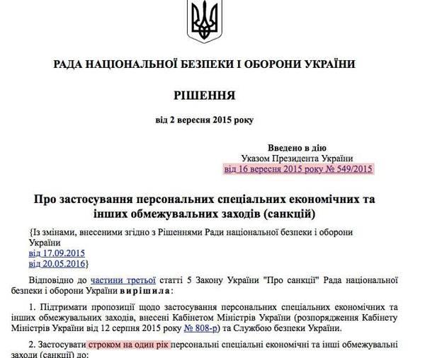 Депутат ВРУ: Украинские санкции против РФ не действуют около месяца