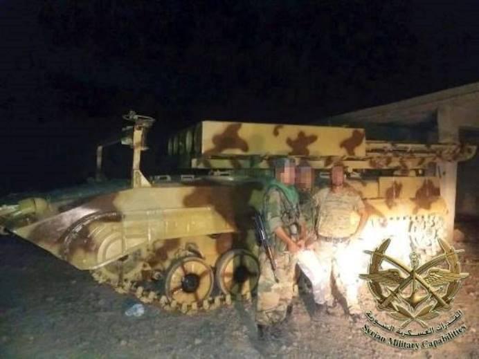 Сирийские военные создали ракетную штурмовую машину