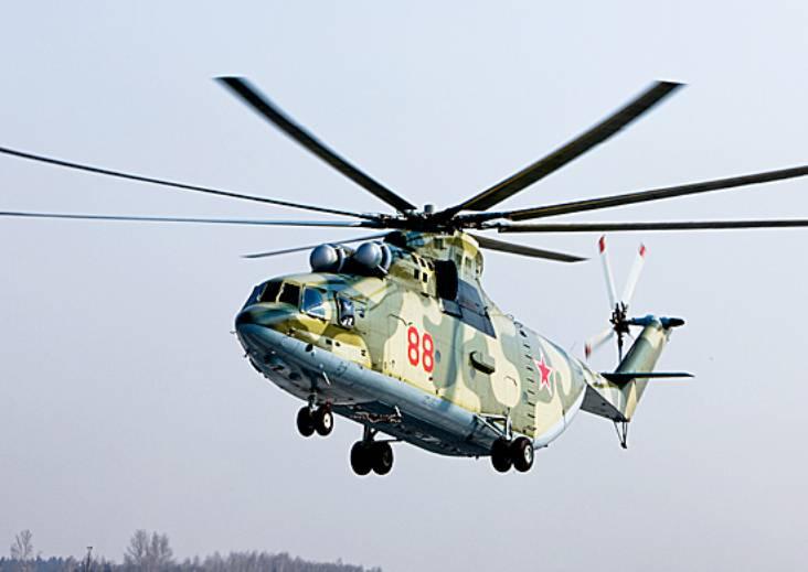 В ЗВО поступил крупнейший в мире многоцелевой вертолёт Ми-26