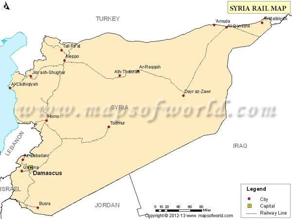 В Сирии восстановлена железная дорога из Латакии в Хомс