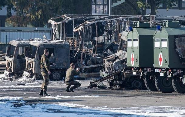 В немецком Бремене выгорел военный автопарк
