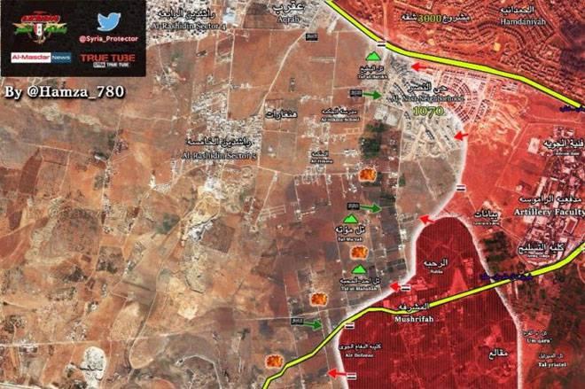 Паника боевиков в ходе наступления сирийской армии на юге Алеппо