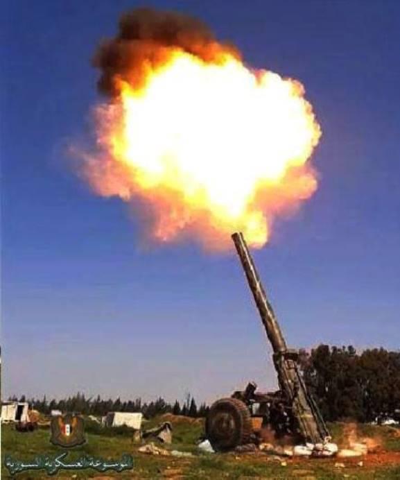 Сирийские военные «реанимировали» советские 240-мм миномёты
