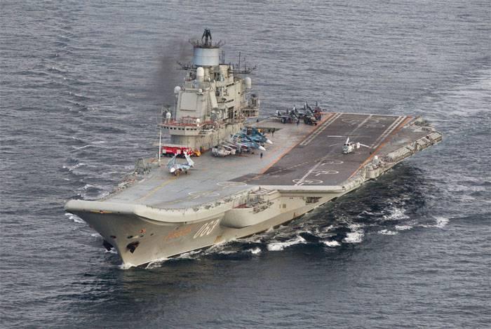 Авианосная группа СФ РФ у берегов Марокко