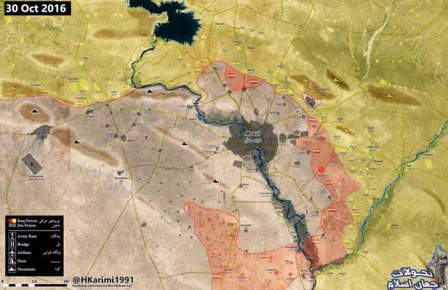 Иракская армия с трудом продвигается к Мосулу