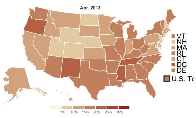Стремительно нищающая Америка. Накормите беременную