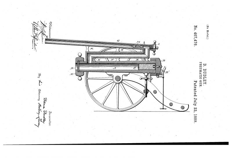 Проект динамитной пушки Д. Дадли (США)