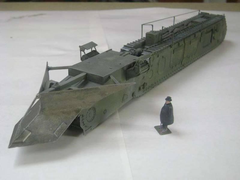 Проект боевого траншеекопателя NLE Trenching Machine Mark I (Великобритания)