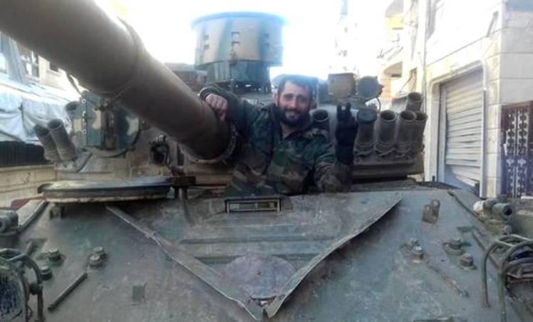 На сирийских танках замечены обновлённые противоракетные «скворечники»