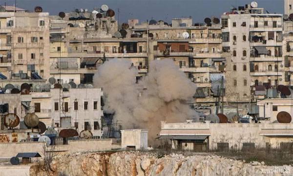 Очередное применение отравляющих веществ боевиками в Алеппо
