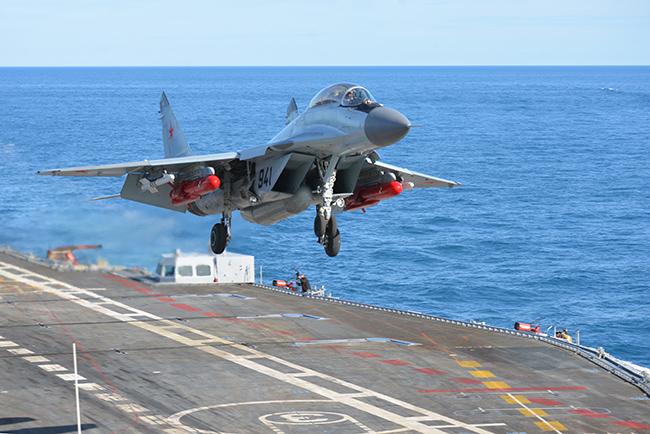 В Средиземном море разбился МиГ-29 с «Адмирала Кузнецова»
