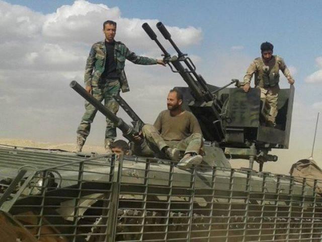 Дистанционно управляемая артустановка в Сирии
