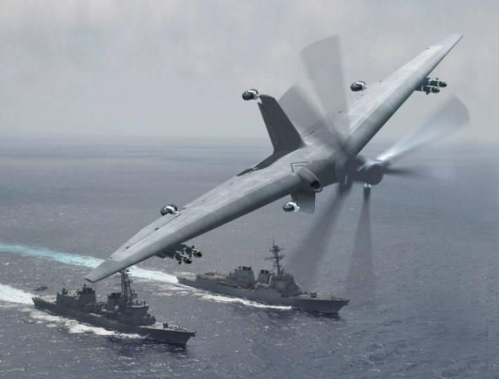 В США разрабатывается «тейлситтер» – дрон вертикального взлета и посадки на хвост