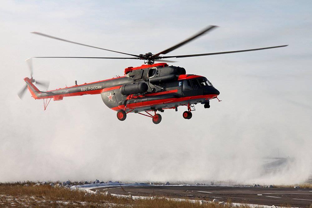 Холдинг «Ростеха» изготовил 1-ый арктический вертолет Ми-8 для ВМФ РФ