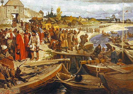 By the 435 anniversary of the beginning (1581) of the Siberian campaign of Ermak