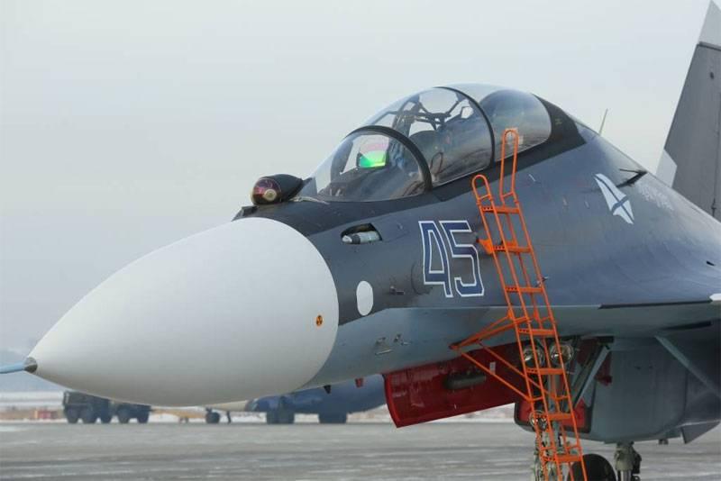 Новая партия Су-30СМ передана морской авиации ВМФ РФ