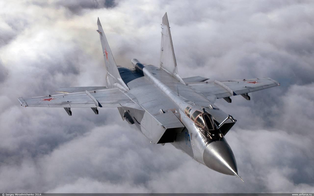 Обои ввс, миг-31, перехватчик, россии, истребитель, Самолёт. Авиация foto 15