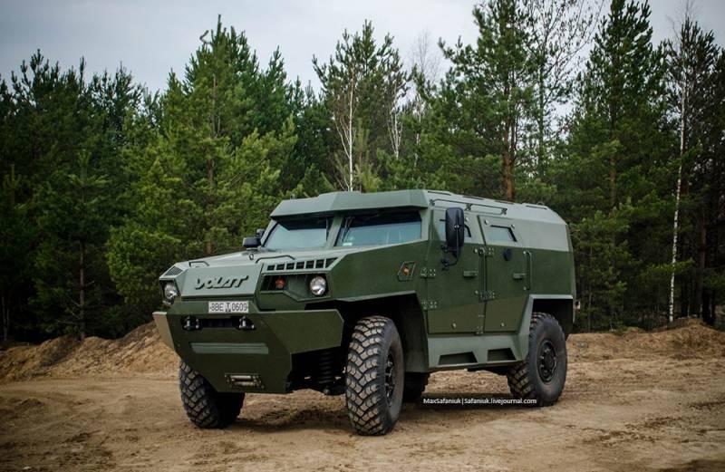 В Беларуси испытывается новая бронемашина Volat V1