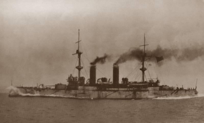 Броненосный крейсер «Асама» в бою у мыса Шантунг, часть II. Хронология участия