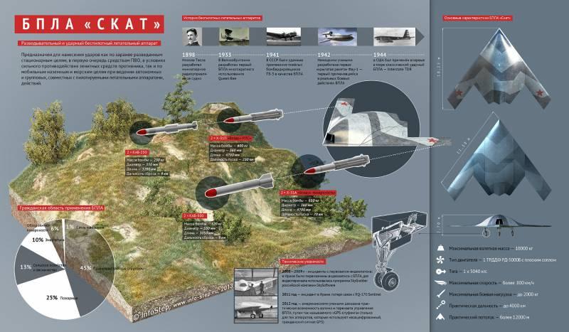 Разведывательно-ударный БПЛА «Скат». Инфографика