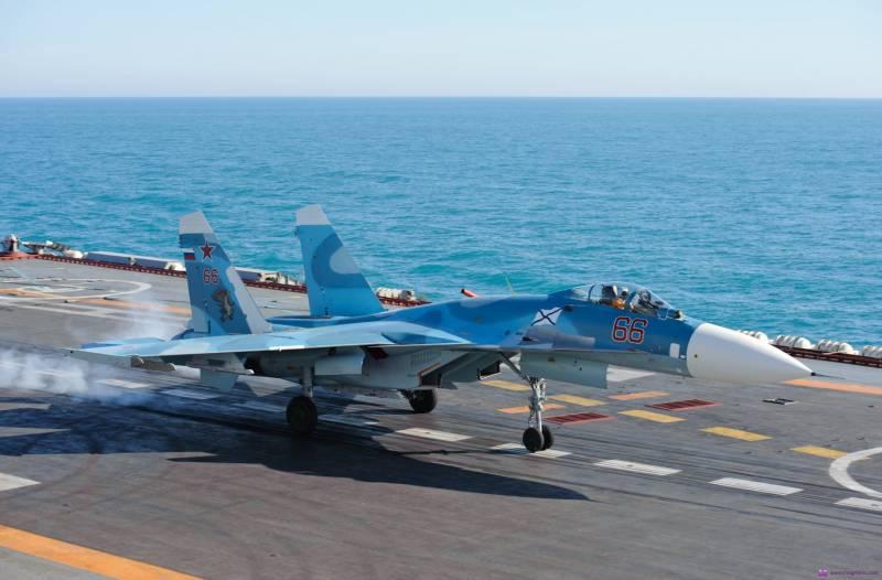 СМИ: истребители с «Адмирала Кузнецова» приступили к патрулированию неба над Сирией