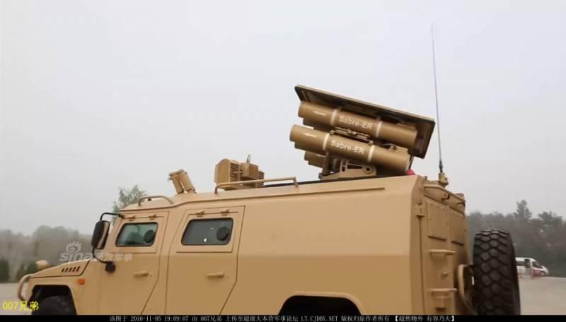 Китайские оборонщики представили новый ПТРК, скопированный с комплекса «Корнет-ЭМ»
