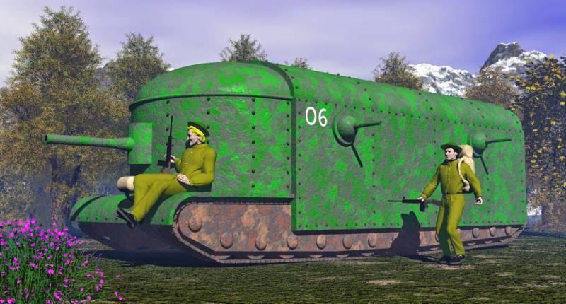 Проект сверхтяжелого танка Flying Elephant (Великобритания)