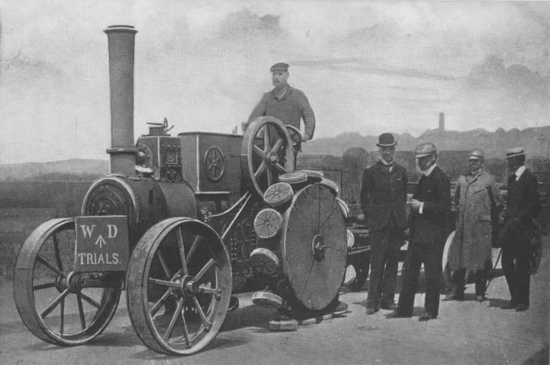 Первые проекты техники на основе движителя типа Pedrail (Великобритания)