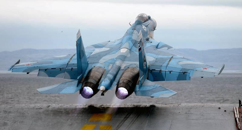 Су-33, размещённые на «Адмирале Кузнецове», оборудованы подсистемой, повышающей точность бомбометания