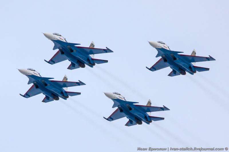 СМИ: группа «Русские Витязи» полностью укомплектована новыми Су-30СМ